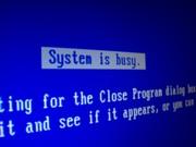 System is busy. System jest zajęty.